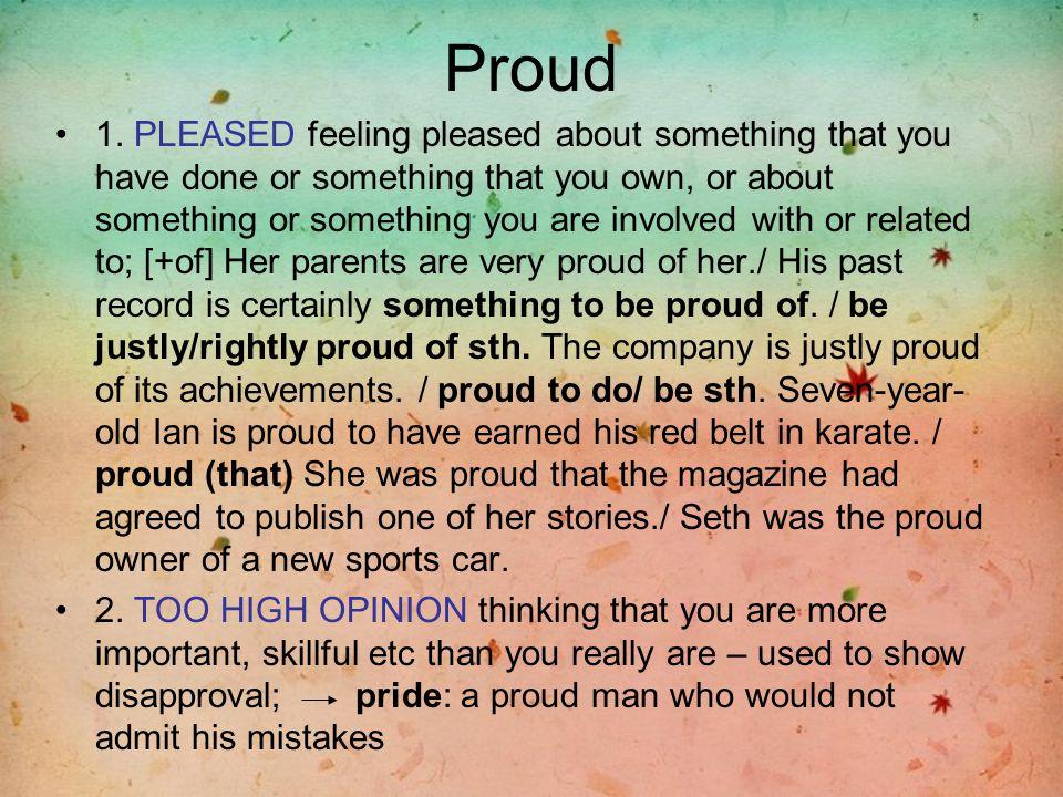 Proud 1.