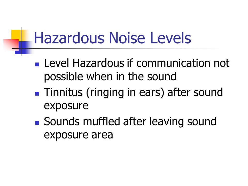 Strategies EC 5th Environmental Action Programme No Person should be exposed to noise levels which endanger health and quality of life Exposure to 65dBA night Leq should be phased out At no time should a level of 85dBA be exceeded No increase in level for those affected by 55- 65dBA
