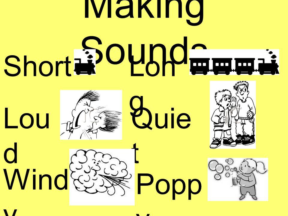 Making Sounds ShortLon g Lou d Quie t Wind y Popp y