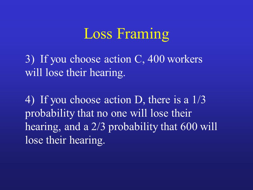 3) If you choose action C, 400 workers will lose their hearing.