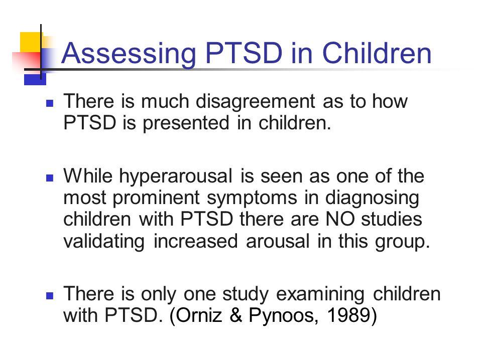 Study of Children with PTSD Sample: 6 children with PTSD and 6 children with no PTSD.