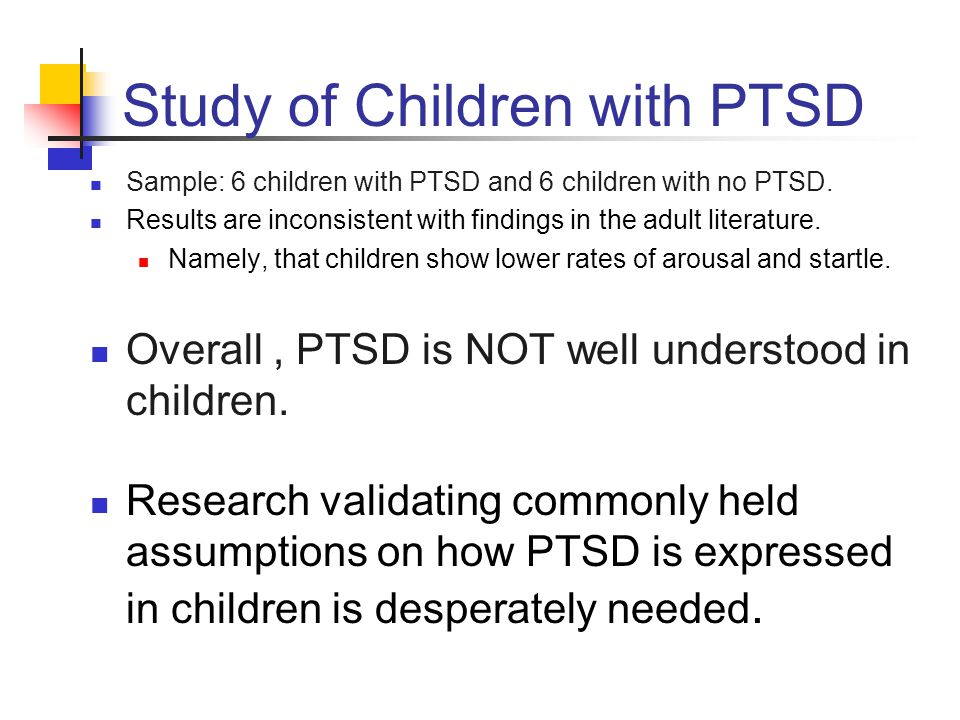 Questions.Do children with PTSD present the same way as adults with PTSD.