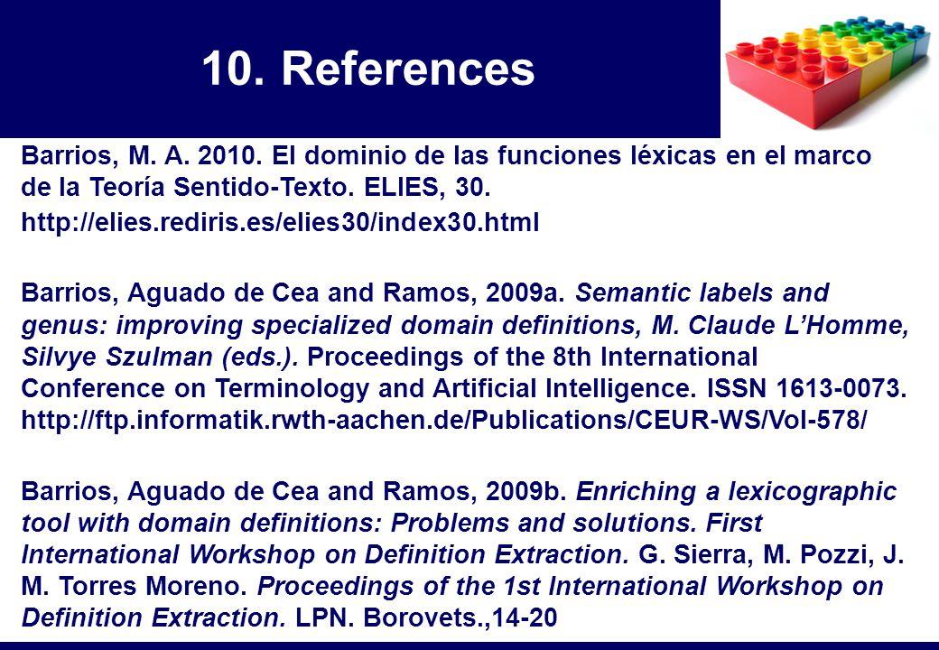 Barrios, M. A. 2010. El dominio de las funciones léxicas en el marco de la Teoría Sentido-Texto. ELIES, 30. http://elies.rediris.es/elies30/index30.ht