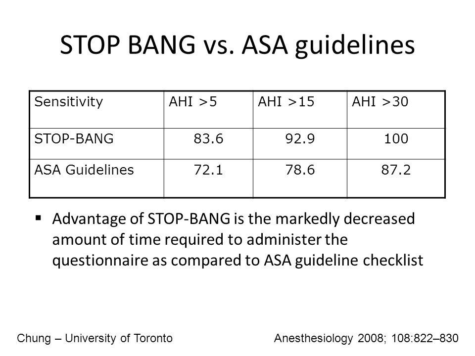 STOP BANG vs.