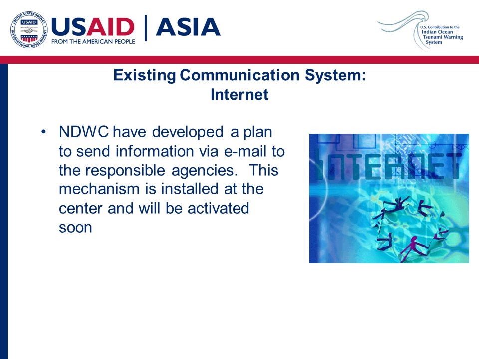 NDWC have developed a plan to send information via e-mail to the responsible agencies.