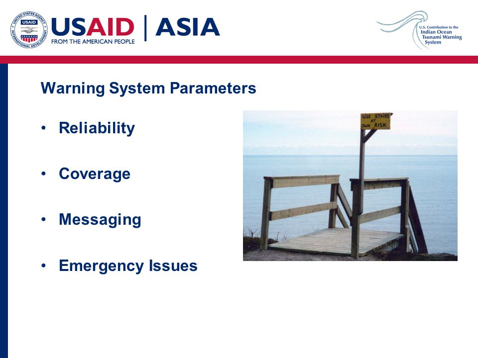 Warning System Parameters Reliability Coverage Messaging Emergency Issues