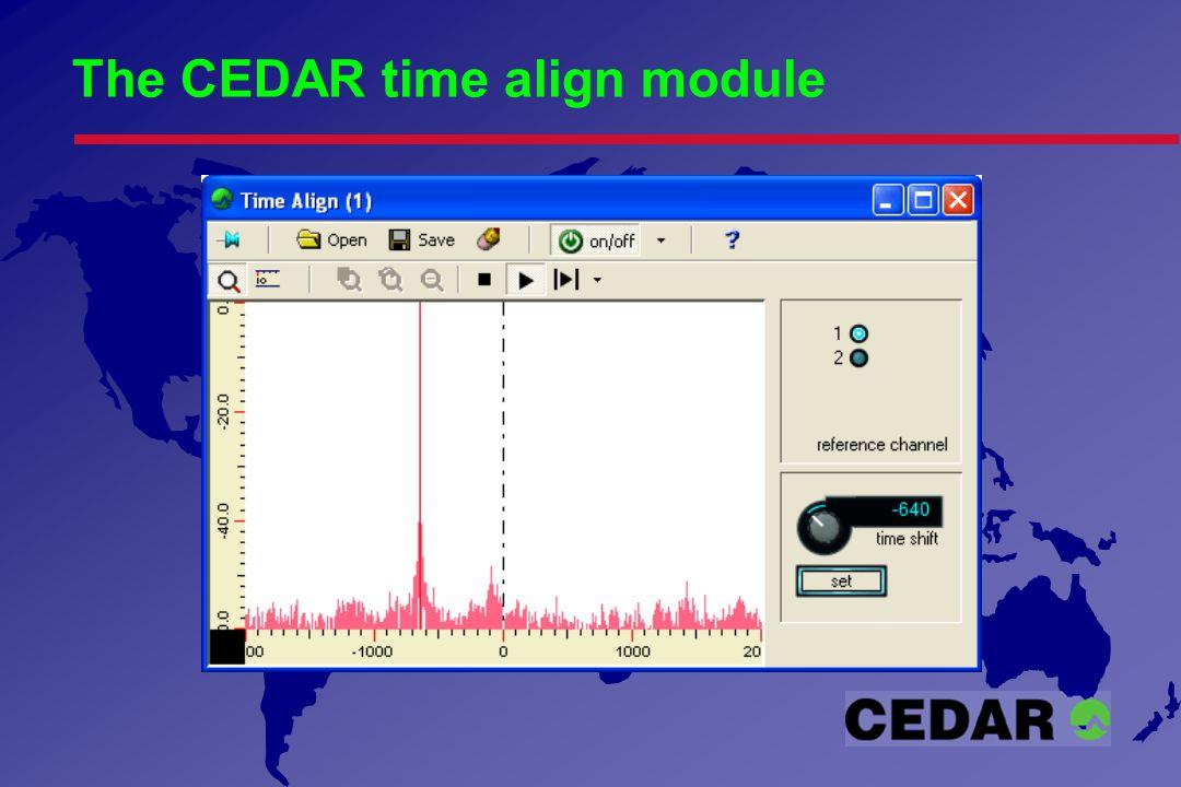 The CEDAR time align module