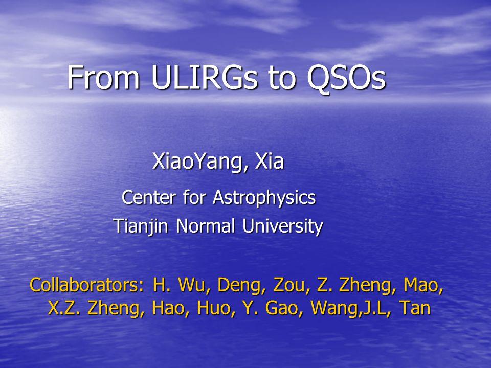 · ······ Ellipticals Groups ULIRGs