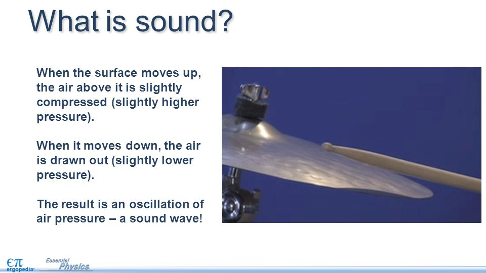When the surface moves up, the air above it is slightly compressed (slightly higher pressure).
