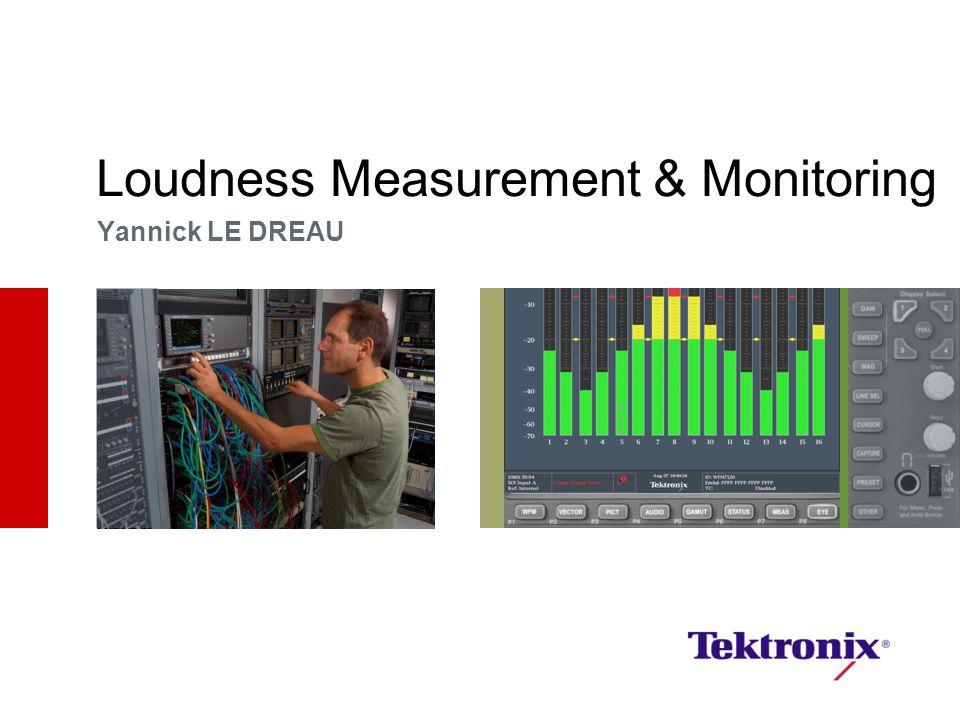 Loudness Measurement & Monitoring Yannick LE DREAU