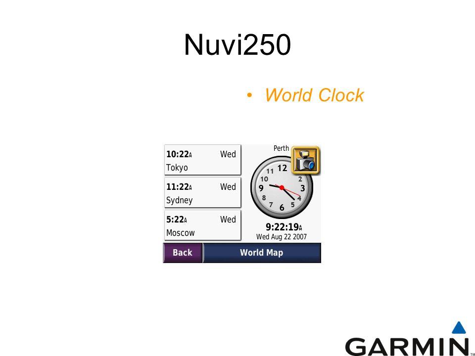 Nuvi250 World Clock