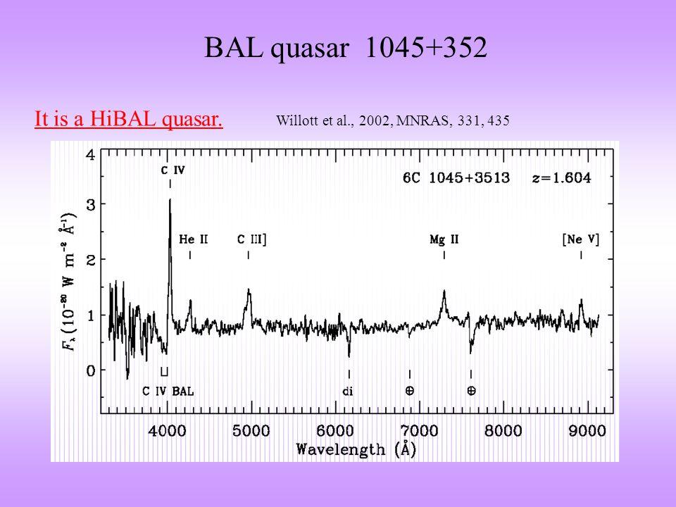 BAL quasar 1045+352 VLBA 1.7 GHz MERLIN 5 GHz NE SWSE NW VLBA 5 GHzVLBA 8.4 GHz 2.1 kpc ~10 4 yr