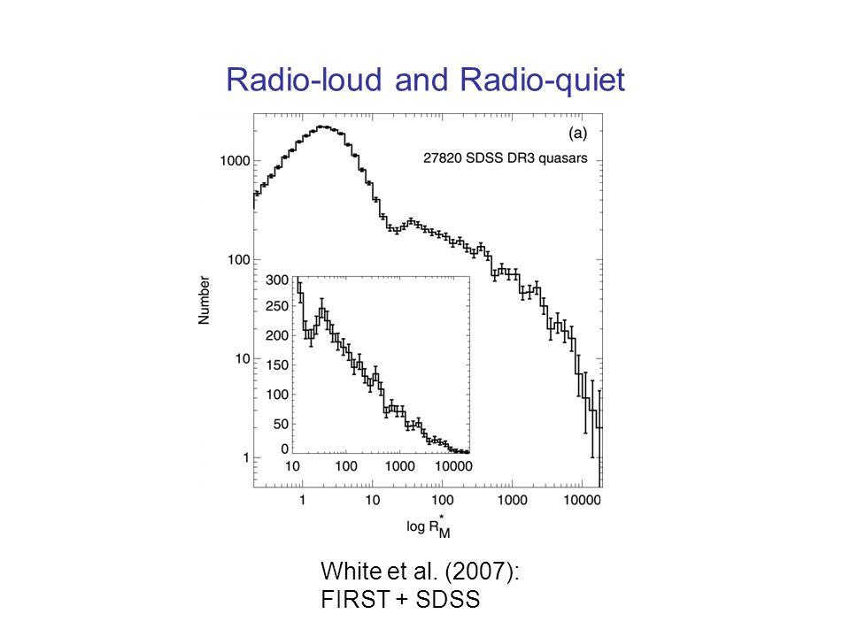 Radio-loud and Radio-quiet White et al. (2007): FIRST + SDSS