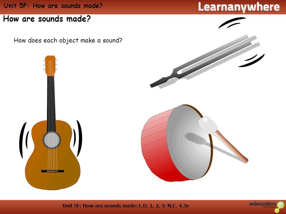 Unit 5F: Sound travelling: L.O. 4: N.C. Unit 5F: Sound travelling Sound travelling