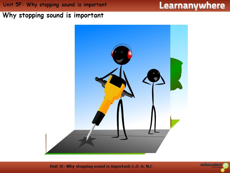 Unit 5F: Why stopping sound is important: L.O. 6: N.C Unit 5F: Why stopping sound is important Why stopping sound is important