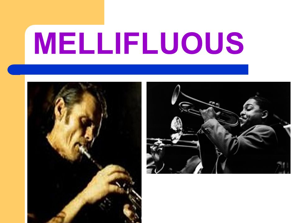MELLIFLUOUS Adj. sweet and smooth sounding
