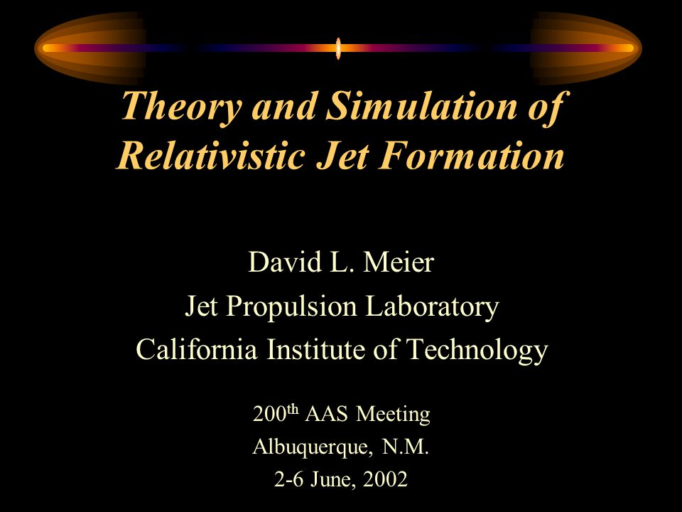 Theory and Simulation of Relativistic Jet Formation David L.