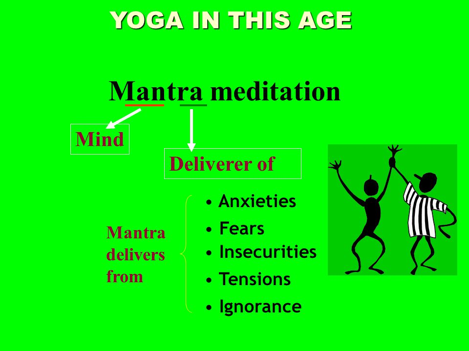 YOGA IN THIS AGE Mantra meditation Mind Deliverer of Insecurities Fears Anxieties Tensions Ignorance Mantra delivers from