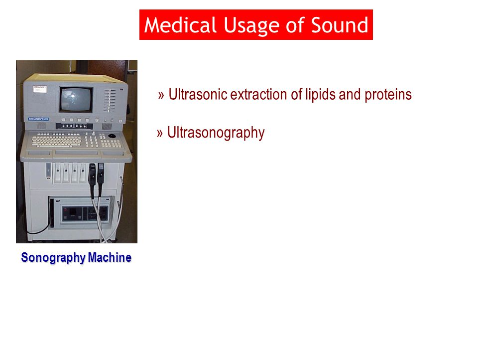Medical Usage of Sound Sonography Machine » Ultrasonic extraction of lipids and proteins » Ultrasonography