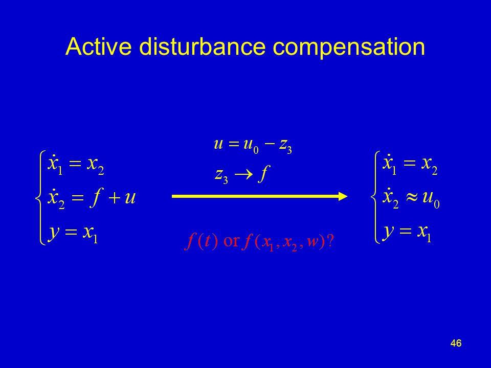 46 Active disturbance compensation