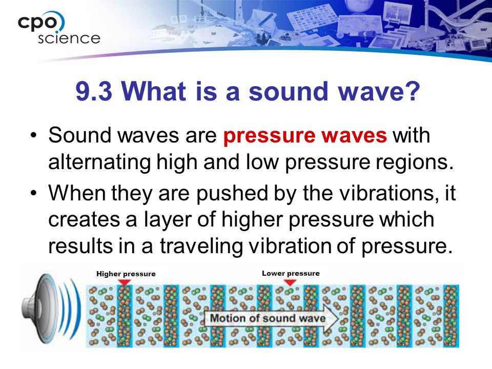 9.3 What is a sound wave.