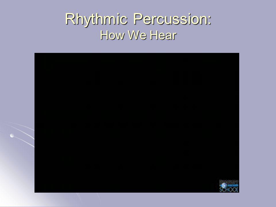 Rhythmic Percussion: How We Hear