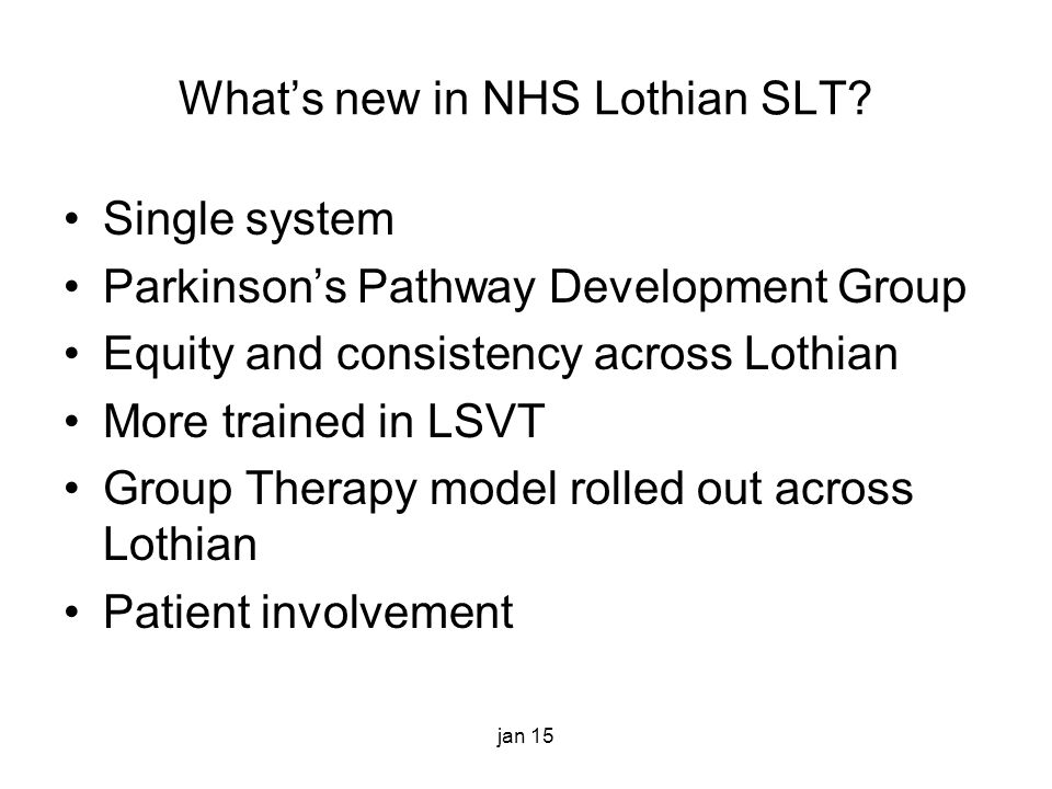 What's new in NHS Lothian SLT.