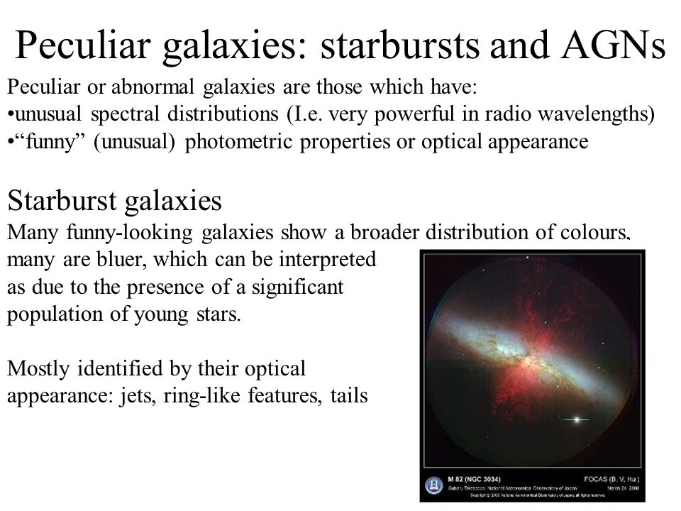 The peculiar features can be attributed to interactions or collisions between galaxies Quite often the new (or central) object can be fit by an R 1/4 profile, implying that it may evolve into an E.