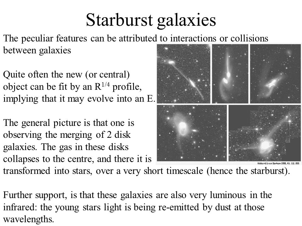 Many abnormal galaxies contain peculiar point-like sources at their centres; which can be so bright that they outshine the galaxy.