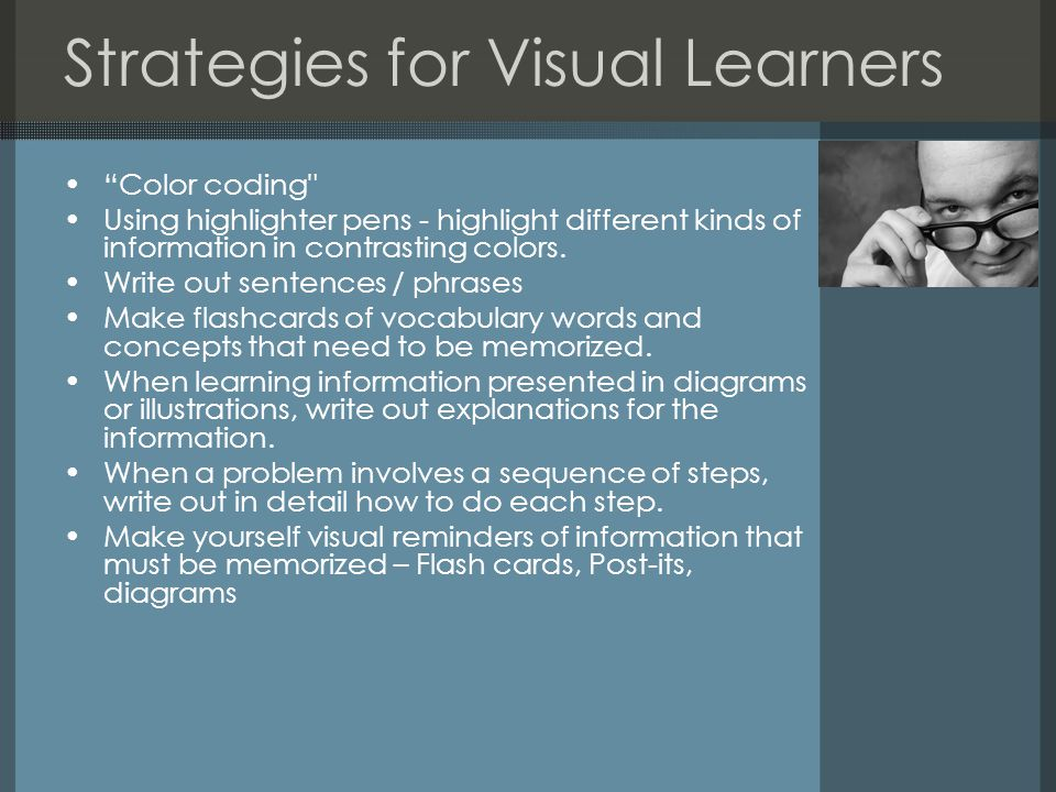 "Strategies for Visual Learners ""Color coding"