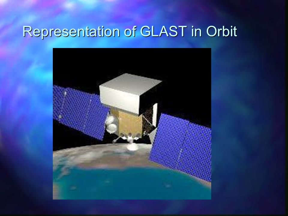 Representation of GLAST in Orbit
