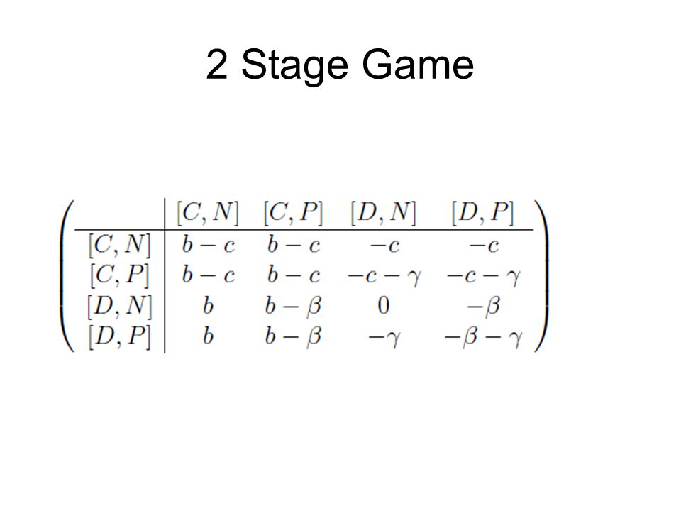 2 Stage Game