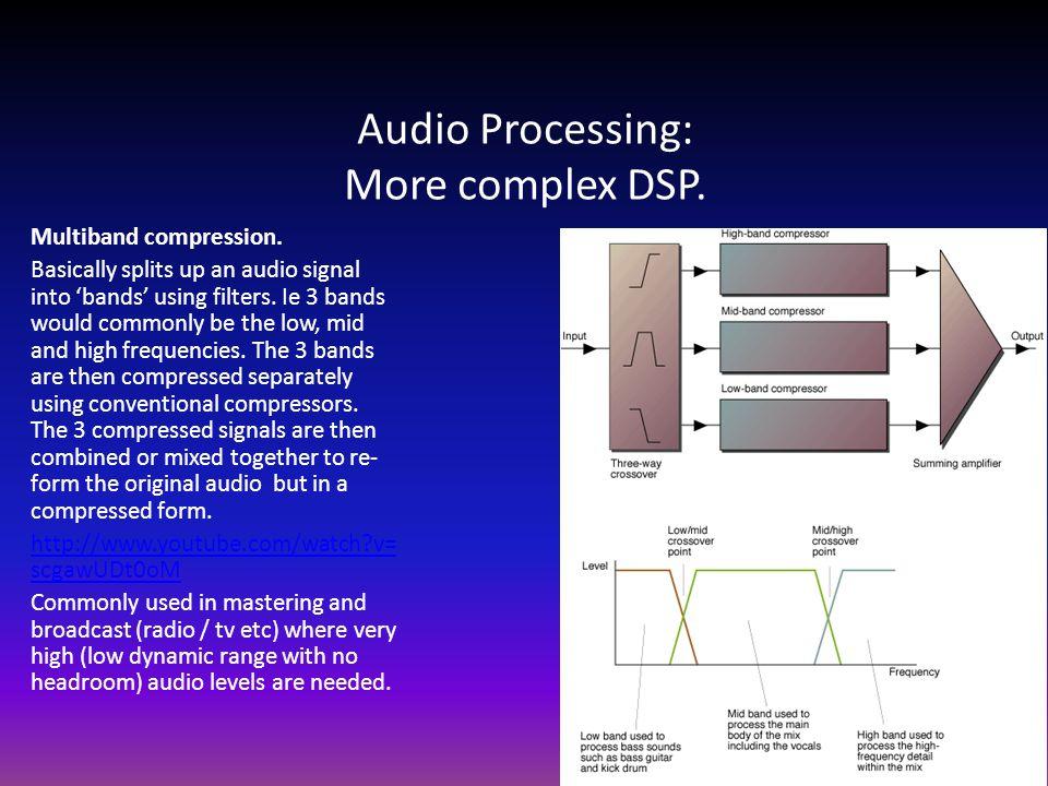 Audio Processing: More complex DSP. Multiband compression.