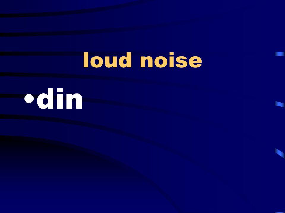 loud noise din