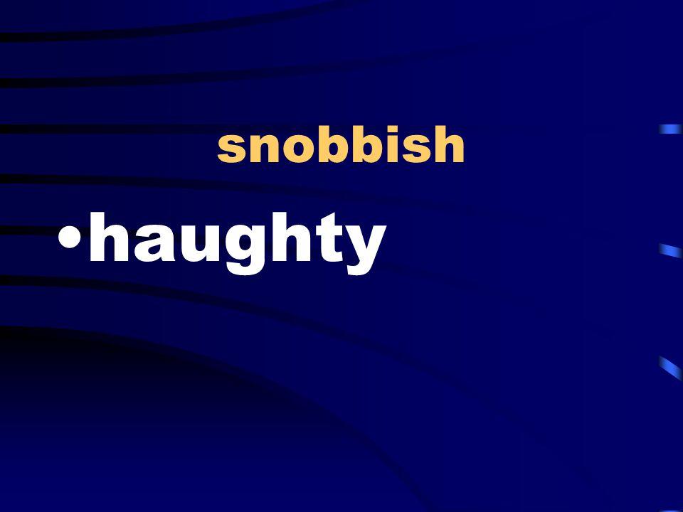 snobbish haughty