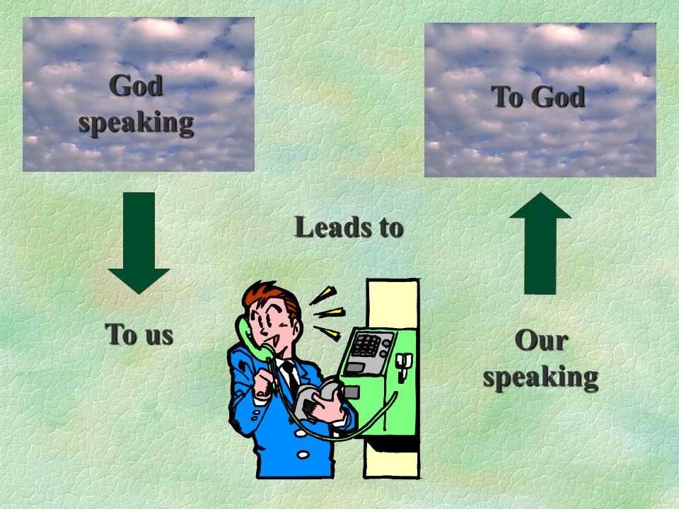 Our speaking Leads to To us God speaking To God