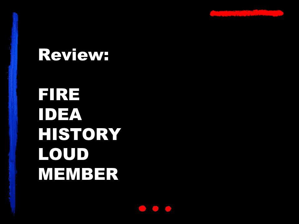 Review: FIRE IDEA HISTORY LOUD MEMBER