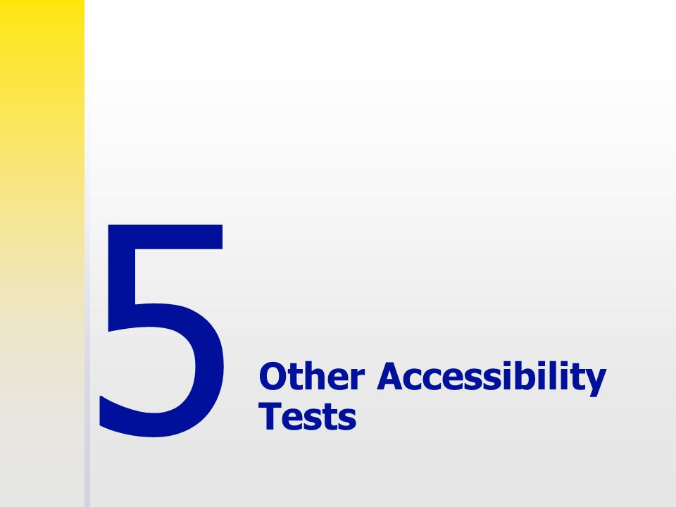 Other Accessibility Tests 5