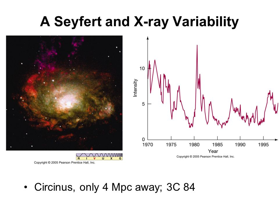 A Seyfert and X-ray Variability Circinus, only 4 Mpc away; 3C 84
