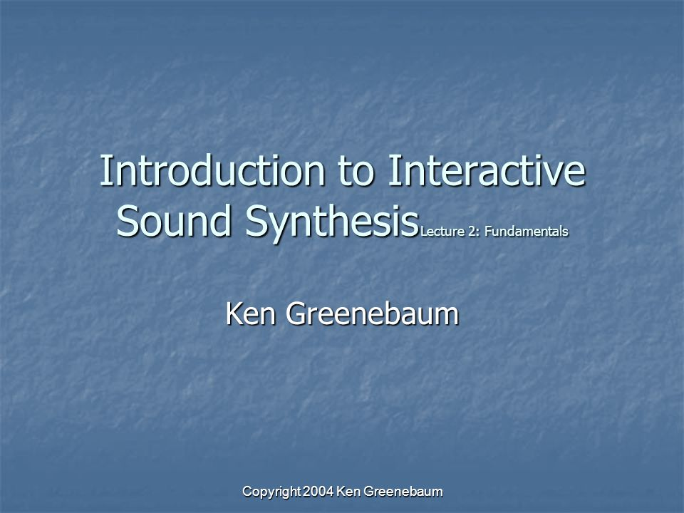 Copyright 2004 Ken Greenebaum Sound Propagation Spherical spreading is primary source of attenuation Spherical spreading is primary source of attenuation Sound waves propagate omnidirectionally in concentric rings (like an onion) Sound waves propagate omnidirectionally in concentric rings (like an onion) Energy falls off proportionally to the area of the spherical shell (wavefront) Energy falls off proportionally to the area of the spherical shell (wavefront) Inversely proportional to the square of the distance Inversely proportional to the square of the distance I=P/(4πr 2 ) I=P/(4πr 2 ) Intensity I, P power at source, r distance from source Intensity I, P power at source, r distance from source