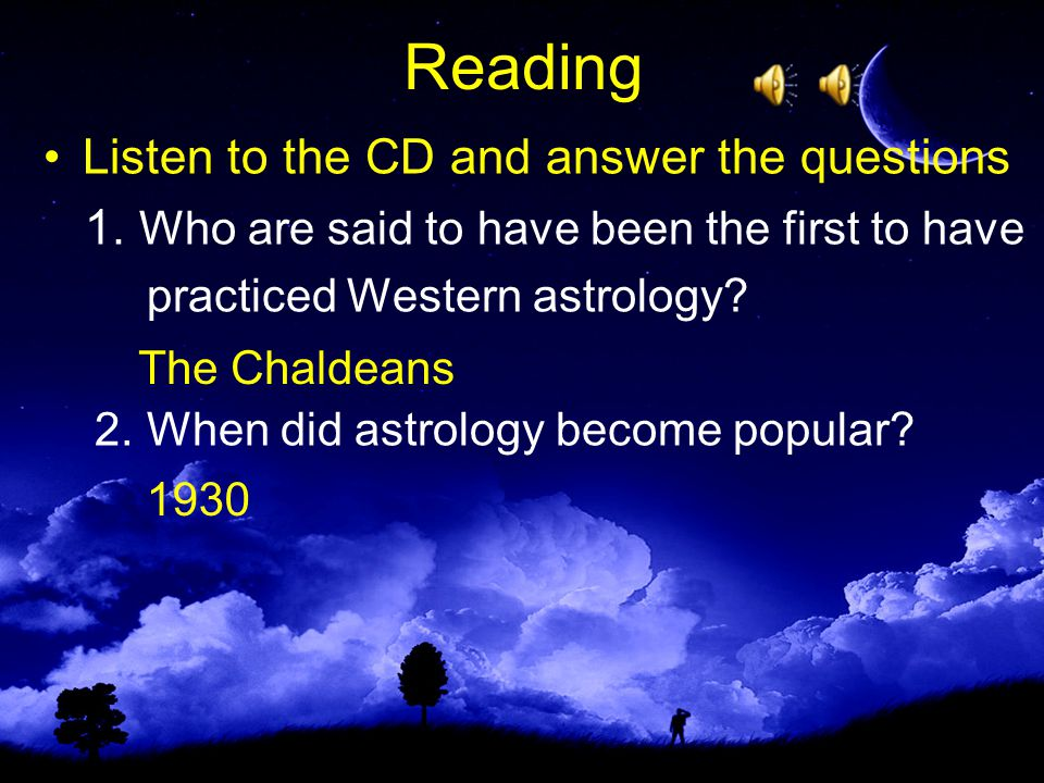Reading Listen to the CD and answer the questions 1.