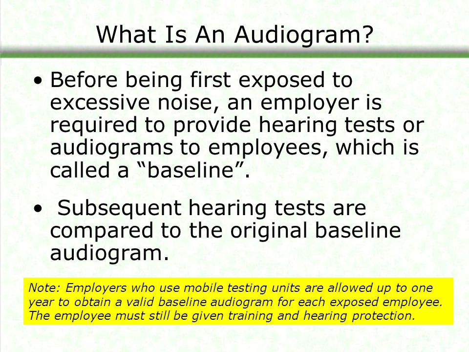 What Is An Audiogram.An audiogram is a picture or graph of a hearing test.