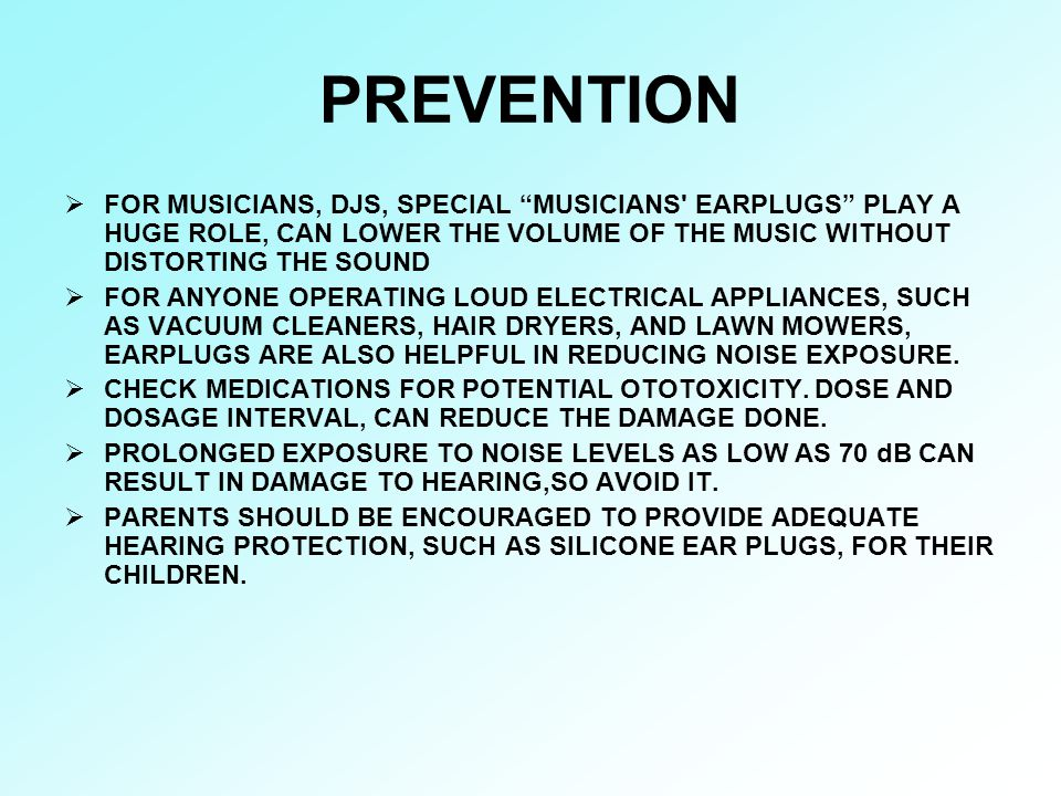 """PREVENTION  FOR MUSICIANS, DJS, SPECIAL """"MUSICIANS' EARPLUGS"""" PLAY A HUGE ROLE, CAN LOWER THE VOLUME OF THE MUSIC WITHOUT DISTORTING THE SOUND  FOR"""