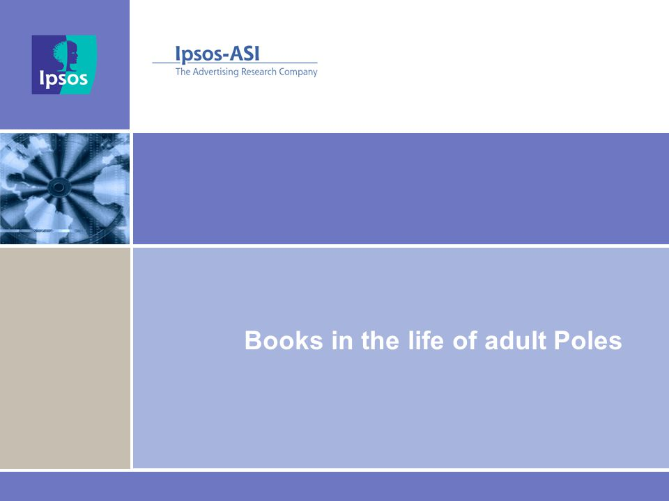 Books in the life of adult Poles