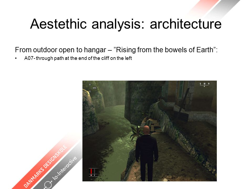Aestethic analysis: architecture From outdoor open to hangar – Rising from the bowels of Earth : A07- through path at the end of the cliff on the left