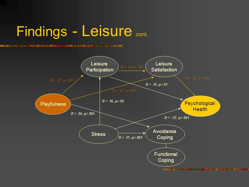 Findings - Leisure cont.