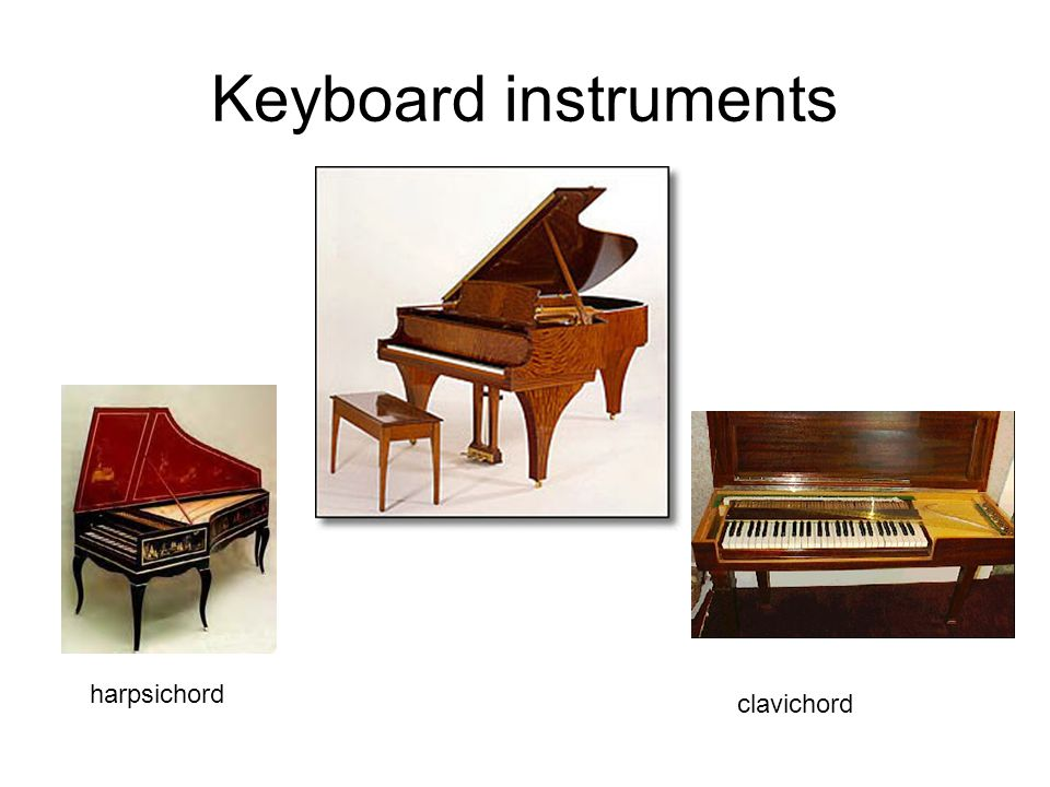 Keyboard instruments clavichord harpsichord