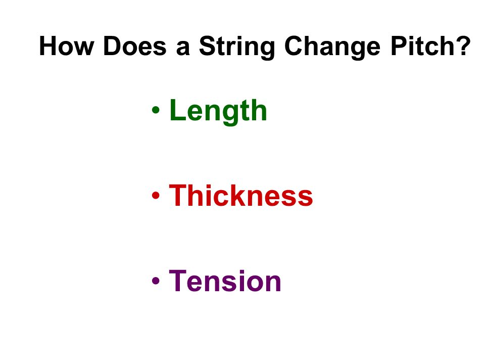 How Does a String Change Pitch Length Thickness Tension