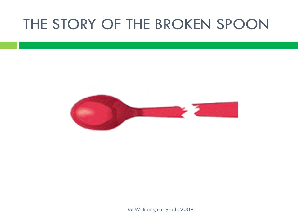 THE STORY OF THE BROKEN SPOON McWilliams, copyright 2009