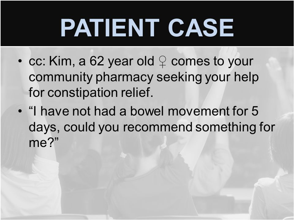 PATIENT CASE Kim had (R) knee surgery 3 months ago and was discharged with a prescription for pain.